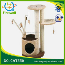 Manufacturer top sales indoor wooden cat house and interesting pet toys