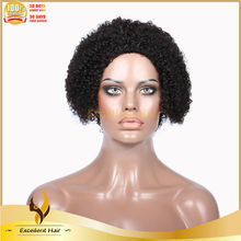 Autumn new products 7A grade 100% unprocessed virgin Malaysian hair kinky curly lace wig
