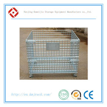 Wire Warehouse Cages/Steel Mesh Stillages/Stackable Metal Bins