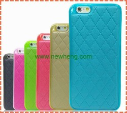 new arrival stick leather tpu back cover case for iphone6
