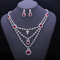 ZheFan high quality brass cz material bridal jewelry set for women