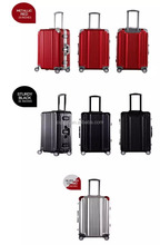 2015 anodized aluminium material trolley luggage, suitcase,20,24,28 luggage