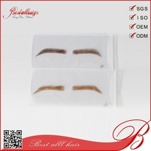 fashion eyebrow extension,human hair lace/PU base eyebrow