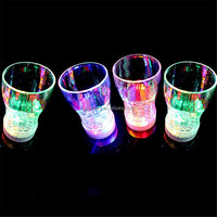 Acrylic 6-LED Light Color Flashing Beer Mug Drink Cup For Party Wedding Club Decorative About 165ml