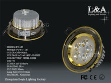 Hot Sale! dimmable high luminous led downlight BY-587