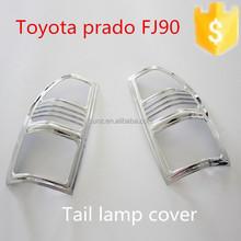 TOYOTA PRADO FJ90 - toyota parts chrome taillight cover for Toyota prado fj90 v6 3400 car accessories
