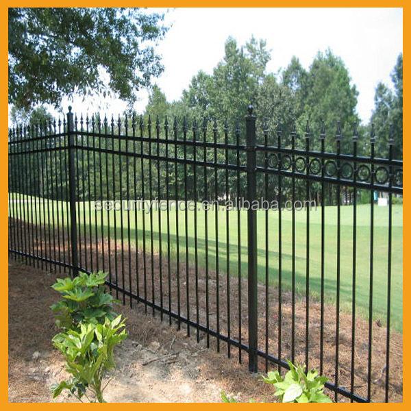 Australia - style black aluminum fence