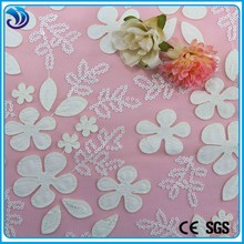 wholesale polyester net sequins laser embroidery fabrics used for garment