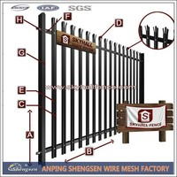 Hot selling products wood garden edging fence