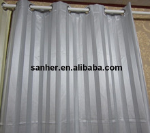 polyester jacquard look string curtain
