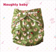 Wholesale one size cartoon Baby pocket Cloth Diapers Naughty baby modern pocket cloth diaper Eco friendly cute diaper nappy