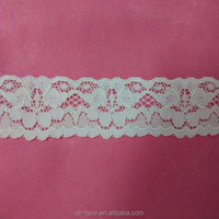 stretch lace trim/lace trim with cross line