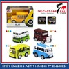 Mini pull back die-cast bus with music light scale model toy bus