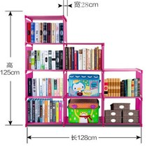 New design folding bookshelf / portable book cabinet / book storage cabinet