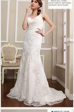 2015 elegante bordado tule com strass sem encosto de fuga vestido de noiva