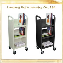 Multi drawing Book room shopping moving metal library trolley book cart/Used Library Metal Book Cart Steel Trolley