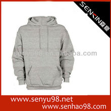 Promotional men's hoodies / 100% cotton plain hoodie