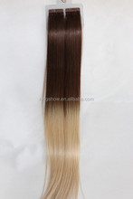 Very long remy hair weave double sided tape hair extensions