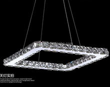 hot sale delicate square led crystal pendant lamp for dinning room decorative made in China