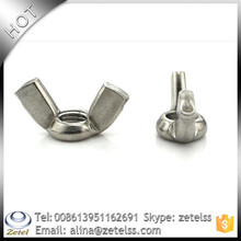 Din 315 China hight quality 201,304,316,or other din315 carbon steel wing\/butterfly nuts with round wings hdg grade 4.8