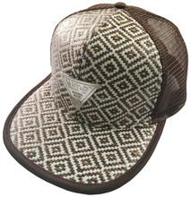 new style 6 panel badge straw baseball hat