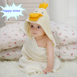 high quality 100% organic cotton baby towel with hood