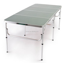 "The Original ""QUATRO FOUR"" Lightweight Aluminum Portable Folding Table 72"" L OR 36"" L x 32"" W x Adjustable 28"" H or 15"" H"