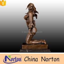 indoor bronze sexy nude woman statue NTBH-S0599S