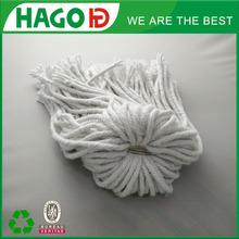 raw white cotton mop head of hurricane mop