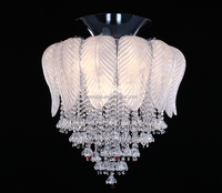 Led Crystal Ceiling Light Fixture Pin Lamp Lighting Prizm Chandelier