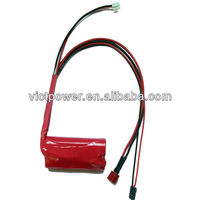 Li-ion 7.4V 2.2ah 18650 Battery Pack for LED Light,Solar Lamp