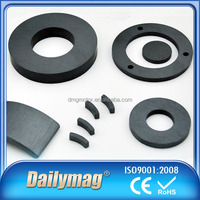 Customized Sintered Permanent Ferrite Magnets Ring Shaped