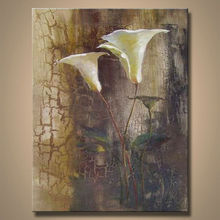 impressionist modern flower oil painting with 100% oil painting