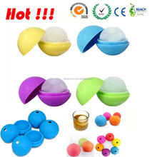 2014 Football shape silicone ice cube tray for sports fans