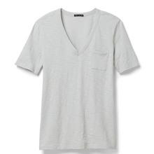 China High Quality Custom Womens Apparel v-neck t shirt 100 cotton export quality