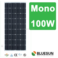 Bluesun factory production best price monocrystalline 12v 100w solar energy panel