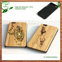custom flower printed pu leather/pc+wood/ flip case for iphone 4/4s 5/5s apple
