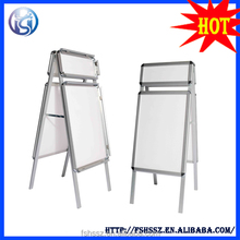popular double sided aluminum floor standing poster display