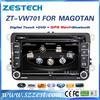 ZESTECH wholesale HD touch screen 2 din head unit car dvd player for vw passat with radio bt usb sd mp3 car gps navigation