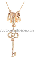 2015 Lucky transit circle drill key long necklace