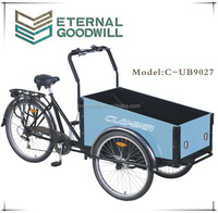 2015 three wheel Electric cargo bike cargo tricycle cargo trike front box 3 wheel bikes for adults
