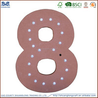 Wooden painted number letter,led lamp, advertising wood letter signs
