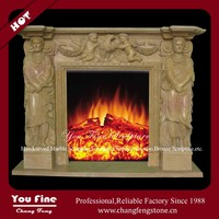 Decorative Marble Freestanding Outdoor Fireplace
