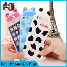 For iPhone 6 Silicone Case New Style Fashion Cute Cartoon Bear Silicone case for iPhone 6 Plus