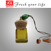 Fashion perfume bottle make hanging liquid car air freshener
