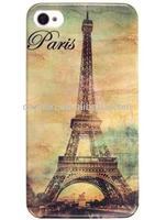 Design Series Paris Eiffel Tower Image Hard Plastic Case for Iphone 4 & 4s
