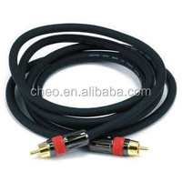 Monoprice High-Quality RCA Male to Male AudioVideo Coaxial Cable Black-hc-61-32