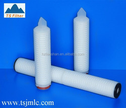 High Quality Absolute Removal Rate 0.2 Micron Nylon Filter Cartridge for Chemical Solvents Solution Filtration