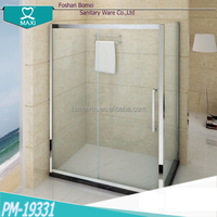 Stainless steel accessories rectangle shaped sliding open shower door M-19331
