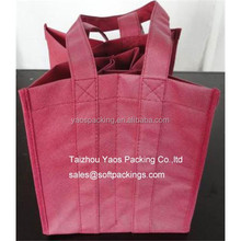 non woven 9 bottle wine tote bag, wholesale reusable bag gift bag, promotional 9 bottle wine carrier bag with dividers